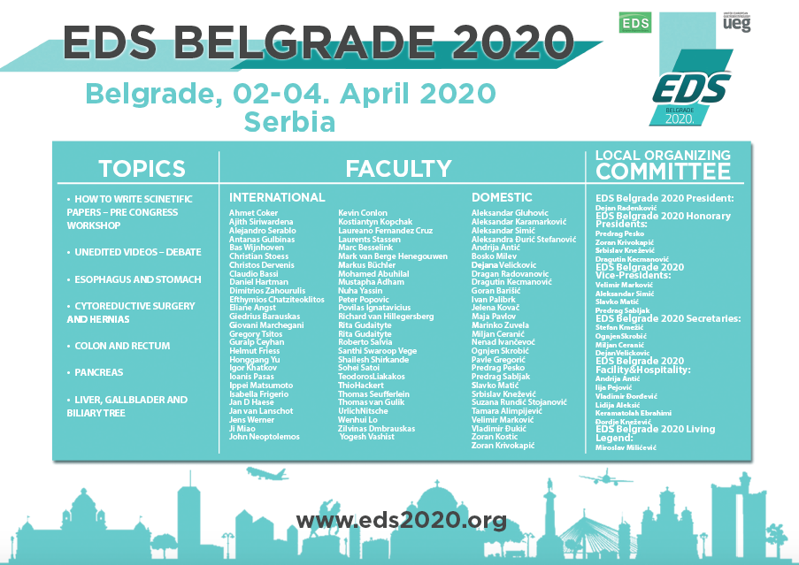 14th EDS Postgraduate Course 2020, Belgrade, Serbia: Registration and travel grants available!